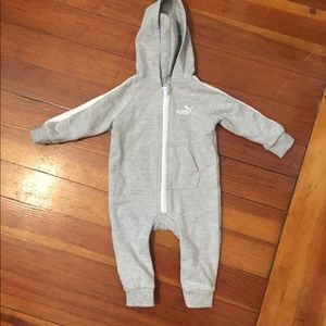 Puma one piece baby romper